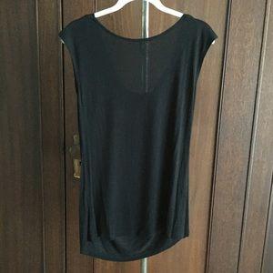 Olivia Moon Tops - Sleeveless drape neck knit top